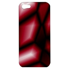 Red Abstract Background Apple Iphone 5 Hardshell Case
