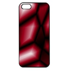 Red Abstract Background Apple Iphone 5 Seamless Case (black)