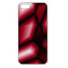 Red Abstract Background Apple Seamless iPhone 5 Case (Clear)