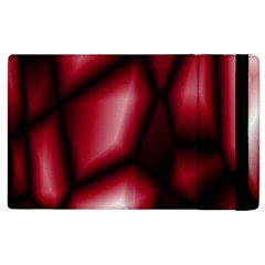 Red Abstract Background Apple iPad 2 Flip Case