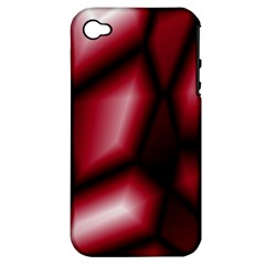 Red Abstract Background Apple iPhone 4/4S Hardshell Case (PC+Silicone)