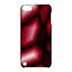 Red Abstract Background Apple iPod Touch 5 Hardshell Case with Stand