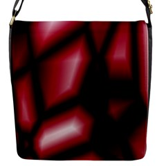 Red Abstract Background Flap Messenger Bag (S)