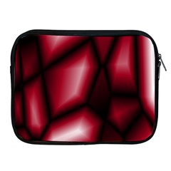 Red Abstract Background Apple iPad 2/3/4 Zipper Cases