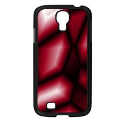 Red Abstract Background Samsung Galaxy S4 I9500/ I9505 Case (black)
