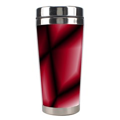 Red Abstract Background Stainless Steel Travel Tumblers