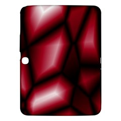 Red Abstract Background Samsung Galaxy Tab 3 (10.1 ) P5200 Hardshell Case