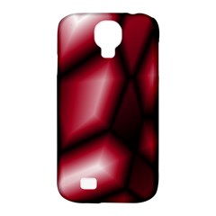 Red Abstract Background Samsung Galaxy S4 Classic Hardshell Case (PC+Silicone)