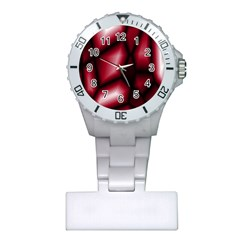 Red Abstract Background Plastic Nurses Watch