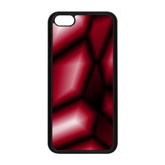 Red Abstract Background Apple Iphone 5c Seamless Case (black)
