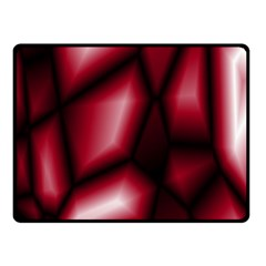 Red Abstract Background Double Sided Fleece Blanket (Small)