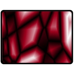 Red Abstract Background Double Sided Fleece Blanket (large)