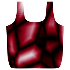 Red Abstract Background Full Print Recycle Bags (L)