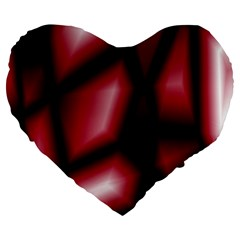 Red Abstract Background Large 19  Premium Flano Heart Shape Cushions
