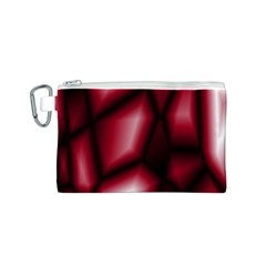 Red Abstract Background Canvas Cosmetic Bag (S)