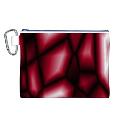 Red Abstract Background Canvas Cosmetic Bag (l)