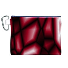 Red Abstract Background Canvas Cosmetic Bag (XL)