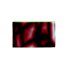 Red Abstract Background Cosmetic Bag (XS)