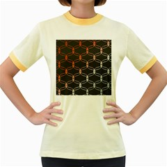 Cadenas Chinas Abstract Design Pattern Women s Fitted Ringer T Shirts