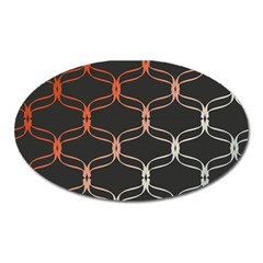 Cadenas Chinas Abstract Design Pattern Oval Magnet