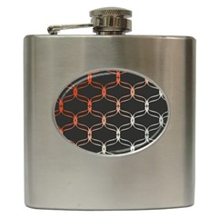 Cadenas Chinas Abstract Design Pattern Hip Flask (6 Oz)