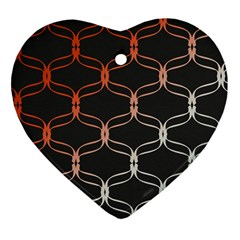 Cadenas Chinas Abstract Design Pattern Heart Ornament (two Sides)