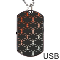 Cadenas Chinas Abstract Design Pattern Dog Tag USB Flash (Two Sides)