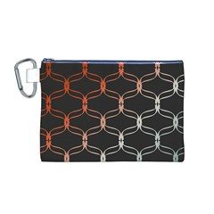 Cadenas Chinas Abstract Design Pattern Canvas Cosmetic Bag (m)