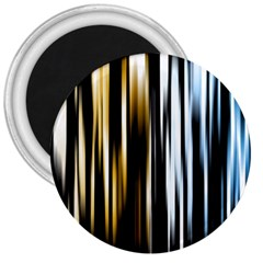 Digitally Created Striped Abstract Background Texture 3  Magnets