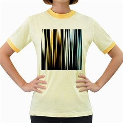 Digitally Created Striped Abstract Background Texture Women s Fitted Ringer T-Shirts
