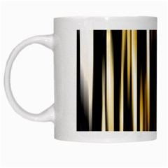 Digitally Created Striped Abstract Background Texture White Mugs