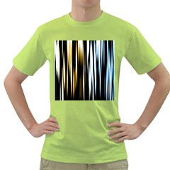 Digitally Created Striped Abstract Background Texture Green T Shirt