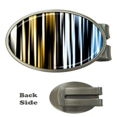 Digitally Created Striped Abstract Background Texture Money Clips (oval)