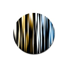 Digitally Created Striped Abstract Background Texture Magnet 3  (Round)