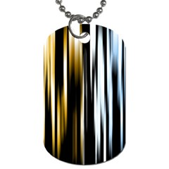 Digitally Created Striped Abstract Background Texture Dog Tag (two Sides)
