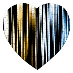 Digitally Created Striped Abstract Background Texture Jigsaw Puzzle (heart)
