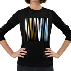 Digitally Created Striped Abstract Background Texture Women s Long Sleeve Dark T Shirts