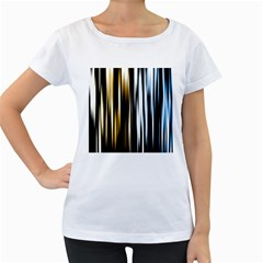 Digitally Created Striped Abstract Background Texture Women s Loose-Fit T-Shirt (White)