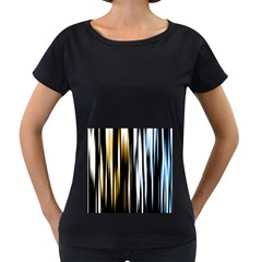 Digitally Created Striped Abstract Background Texture Women s Loose-Fit T-Shirt (Black)