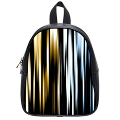 Digitally Created Striped Abstract Background Texture School Bags (small)
