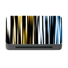 Digitally Created Striped Abstract Background Texture Memory Card Reader with CF