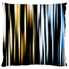 Digitally Created Striped Abstract Background Texture Large Cushion Case (One Side)