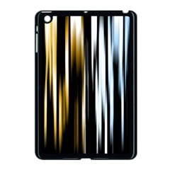 Digitally Created Striped Abstract Background Texture Apple iPad Mini Case (Black)