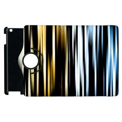 Digitally Created Striped Abstract Background Texture Apple iPad 2 Flip 360 Case