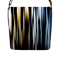 Digitally Created Striped Abstract Background Texture Flap Messenger Bag (L)