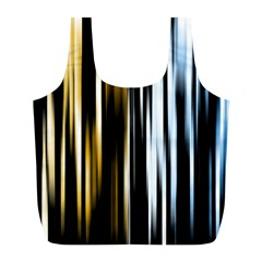 Digitally Created Striped Abstract Background Texture Full Print Recycle Bags (L)