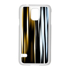 Digitally Created Striped Abstract Background Texture Samsung Galaxy S5 Case (White)
