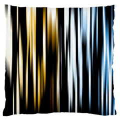 Digitally Created Striped Abstract Background Texture Large Flano Cushion Case (Two Sides)