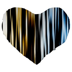 Digitally Created Striped Abstract Background Texture Large 19  Premium Flano Heart Shape Cushions