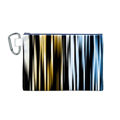 Digitally Created Striped Abstract Background Texture Canvas Cosmetic Bag (M)